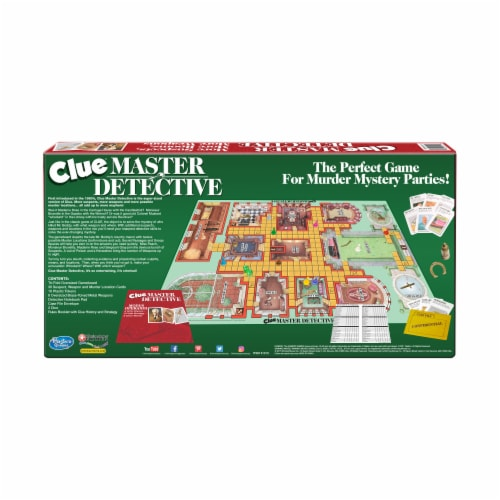 Winning Moves Games Clue Master Detective Board Game Perspective: back