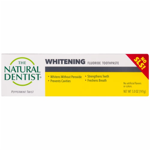 The Natural Dentist Peppermint Twist Whitening Fluoride Toothpaste Perspective: back