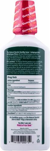 Natural Dentist Healthy Gums Peppermint Twist Antigingivitis Rinse Perspective: back