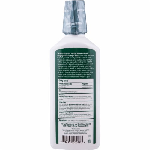 Natural Dentist Healthy White Clean Mint Pre-Brush Rinse Perspective: back