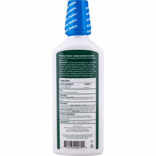 The Natural Dentist Healthy Teeth™ Fresh Mint Fluoride Rinse Perspective: back