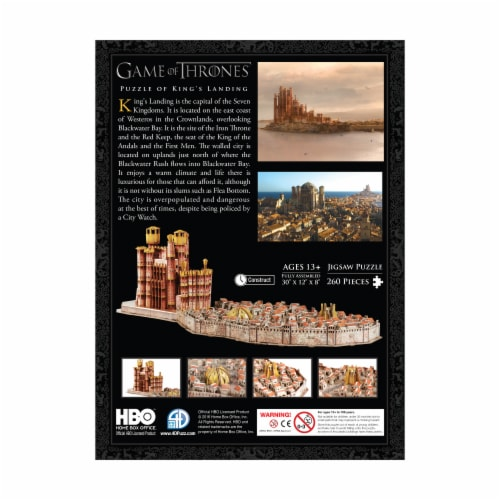 4D Cityscape Game of Thrones: Kings Landing Puzzle Perspective: back