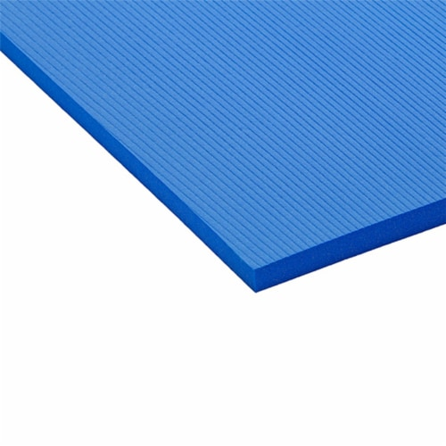Airex Hercules Closed Cell Foam Fitness Mat for Yoga, Pilates, & Gym Use, Blue Perspective: back
