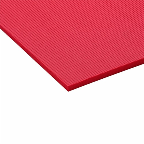 Airex Atlas Closed Cell Foam Fitness Mat for Yoga, Pilates, and Gym Use, Red Perspective: back