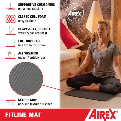 Airex Fitline 140 Closed Cell Foam Fitness Mat for Gym Use, Yoga & Pilates, Pink Perspective: back