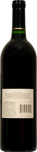 Frog's Leap Winery Cabernet Sauvignon Perspective: back