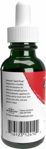 Sweet Leaf Liquid Stevia Sweet Drops Peppermint Flavored Liquid Drops Perspective: back