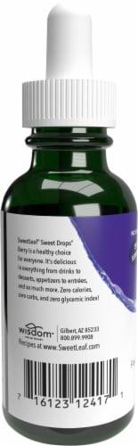Sweet Leaf Liquid Stevia Sweet Drops Berry Flavored Liquid Drops Perspective: back