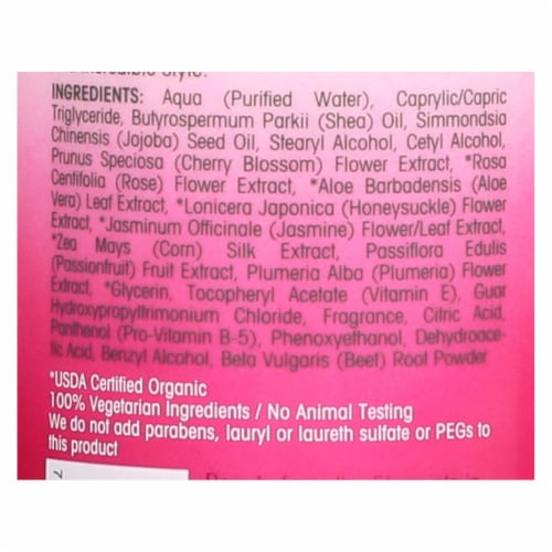 Giovanni Hair Care Products 2Chic - Conditioner - Cherry Blossom and Rose Petals - 24 fl oz Perspective: back