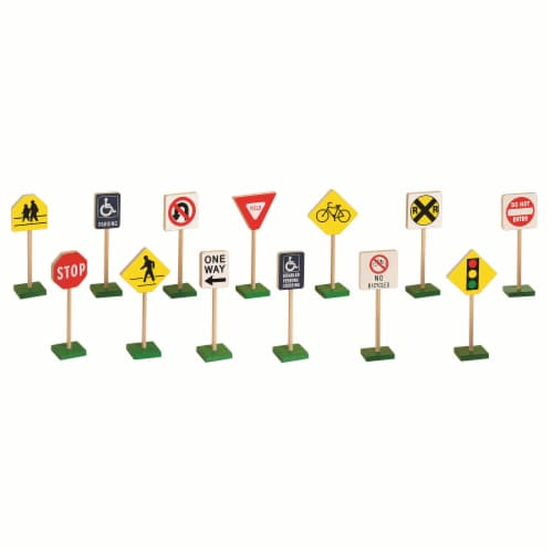 """7"""" Block Play Traffic Signs Perspective: back"""