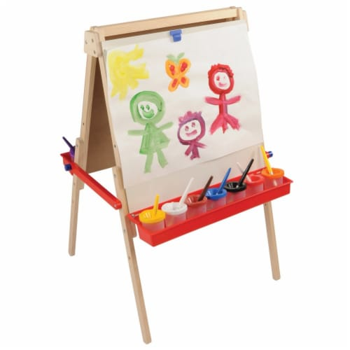 Kaplan Early Learning Floor Style Adjustable Height Art Easel Perspective: back
