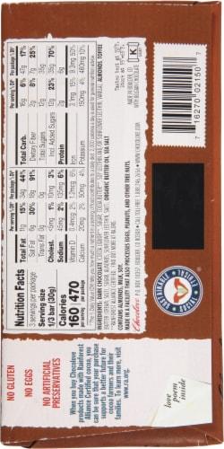 Chocolove Almonds Toffee & Sea Salt in Dark Chocolate Bar Perspective: back