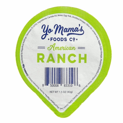 Yo Mama's Foods Keto Ranch Salad Dressing and Dip Cups - (135) 1.5 oz Single Serving Cups Perspective: back