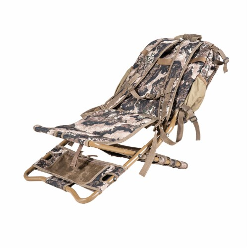Summit Treestands Lightweight Hunting Compact Chairpack 2.5, Veil Whitetail Perspective: back