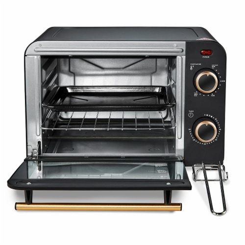 Americana Collection Retro 4 Slice Toaster Oven Perspective: back