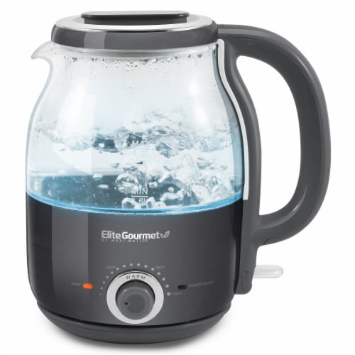 Elite Gourmet Electric Honeypot Glass Kettle - Gray Perspective: back