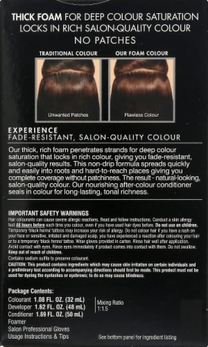 John Frieda 5NBG Chestnut Brown Medium Precision Foam Hair Color Perspective: back