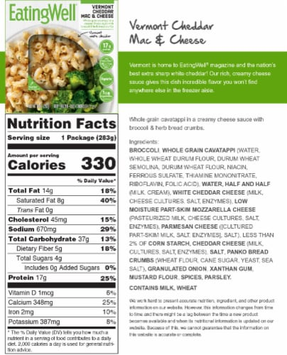 EatingWell Vermont Cheddar Mac & Cheese Perspective: back