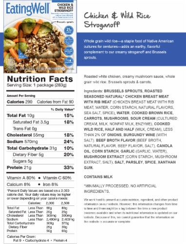 EatingWell Chicken & Wild Rice Stroganoff Frozen Meal Perspective: back