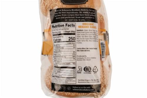 Schwartz Brothers Bakery Organic Sesame Bagels Perspective: back