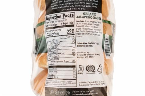 Schwartz Brothers Bakery Organic Jalapeno Bagels Perspective: back