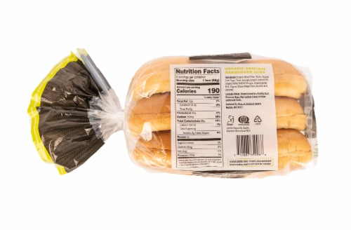 Schwartz Brothers Organic Original Hamburger Buns Perspective: back