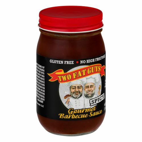 Two Fat Guys Spicy Gourmet Barbecue Sauce Perspective: back