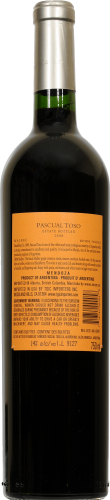 Pascual Toso Malbec Perspective: back