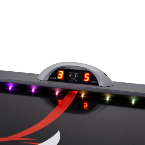 Fat Cat Volt LED Illuminated Air-Powered Hockey Table Perspective: back