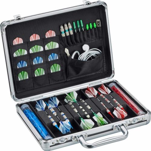 Casemaster Legion Extra Large Aluminum Ultra Premium 9 Dart Storage Case, Black Perspective: back