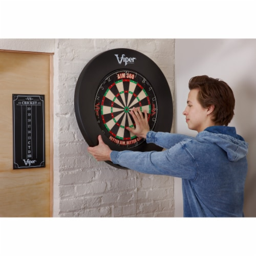 Viper Guardian Dartboard Surround Black Perspective: back