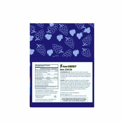 5-Hour Energy® Regular Strength Grape Energy Drink Supplement Perspective: back
