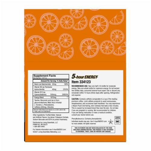 5-Hour Energy Orange Energy Shots Perspective: back