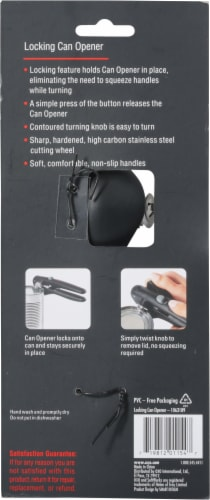 OXO Soft Works Locking Can Opener - Black Perspective: back