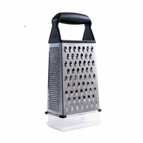 OXO Soft Works Stainless Steel Box Grater - Silver Perspective: back