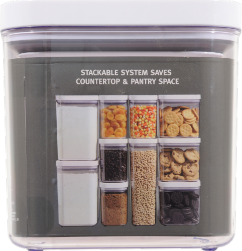 OXO Soft Works POP Food Storage Container - Clear/White Perspective: back