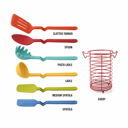 Fiesta Silicone Utensil Set & Caddy Perspective: back