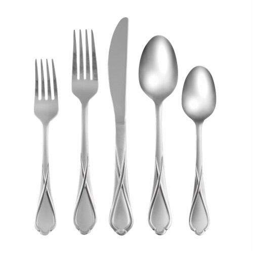 Cambridge Silversmiths Heather Flatware Set - Sand Perspective: back