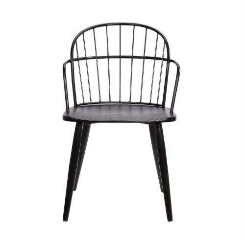 Bradley Steel Framed Dining Room Chair in Black Perspective: back