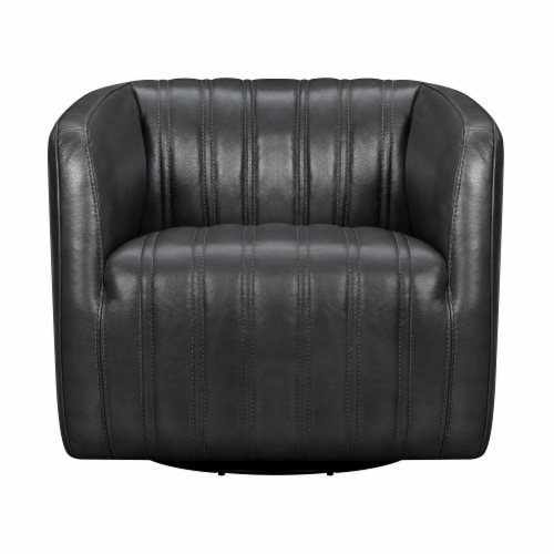 Aries Leather Swivel Barrel Chair Perspective: back