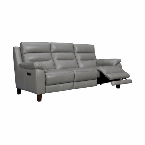 Hayward 82  Dark Gray Leather Power Reclining Sofa Perspective: back