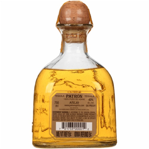 Patron Anejo Tequila Perspective: back