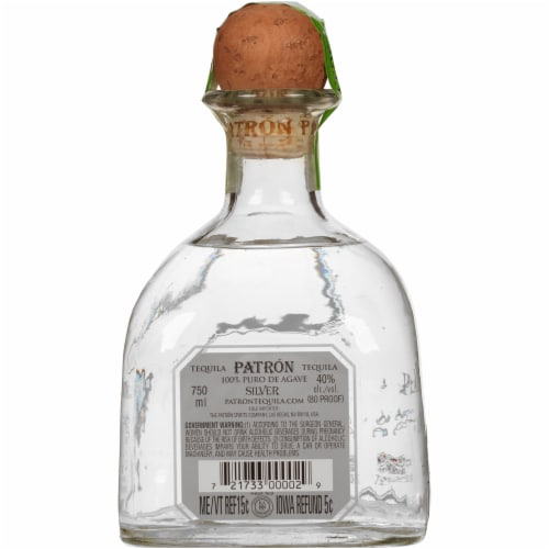 Patron Silver Tequila Perspective: back