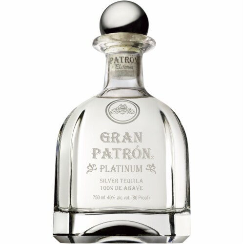Gran Patron Platinum Silver Tequila Perspective: back