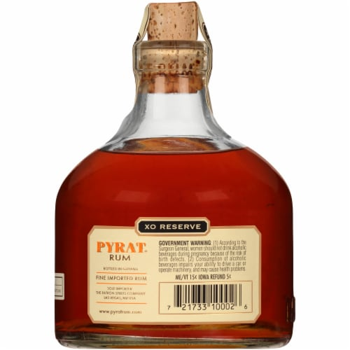 Pyrat XO Reserve Rum Perspective: back