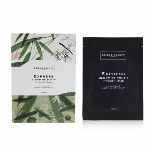 Edible Beauty Express Bloom Of Youth Infusion Mask 5sheets Perspective: back
