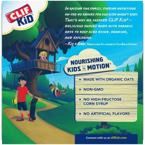 Clif Kid Z Peanut Butter Chocolate Protein Bars Perspective: back