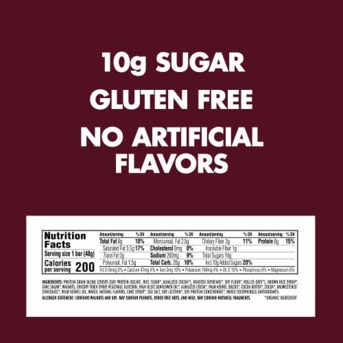 Luna Caramel Walnut Brownie Nutrition Bar Perspective: back