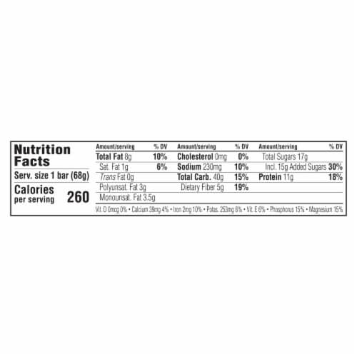 Clif Bar Crunchy Peanut Butter Energy Bar Perspective: back