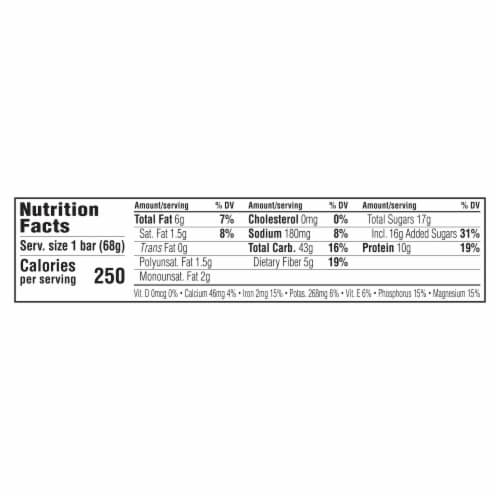 Clif Bar Chocolate Brownie Energy Bar Perspective: back